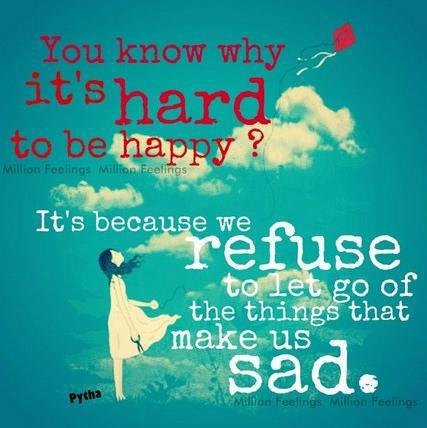 Do you know Why it's hard to be happy?, Happiness Quotes, Inspirational Thoughts, Words, Motivational Pictures