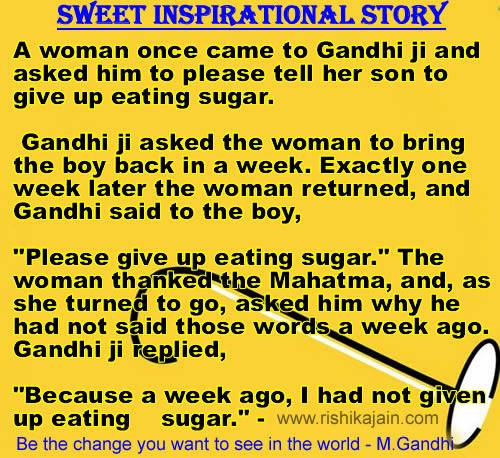 inspirational short stories ,gandhi ji