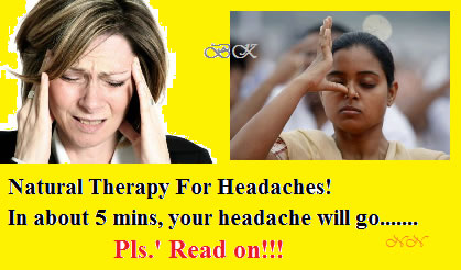 Natural Therapy For Headaches