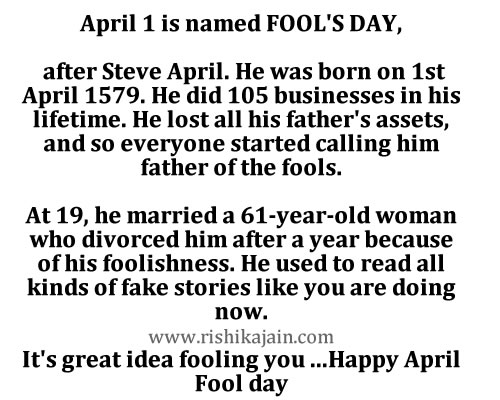 April fools day idea,story,pranks,cards,messages