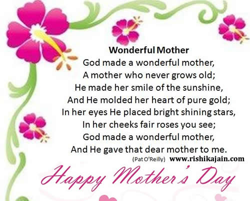 Happy Mother's Day,poem,Inspirational Quotes, Motivational Thoughts and Pictures
