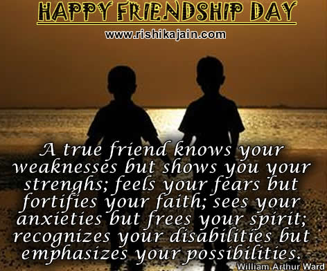Friendship /Friendship Day Quotes - Inspirational Quotes, Pictures and Motivational Thoughts.