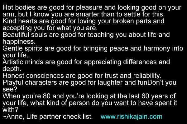 List Of Inspirational Quotes About Life Unique Life Partner Check List Inspirational Quotes  Pictures