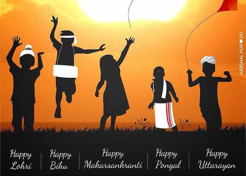 Happy Lohri,Makarsankranti,Pongal,Uttarayan,cards,messages