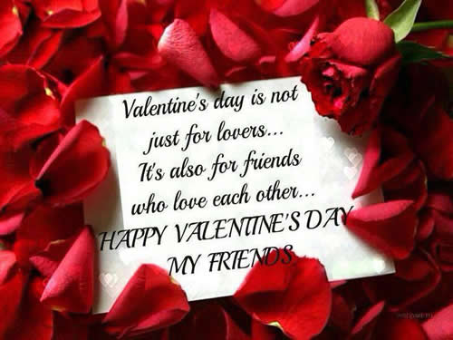 Valentines Quotes For Friends Amusing Happy Valentine's Day My Friends  Daily Inspirations For Healthy
