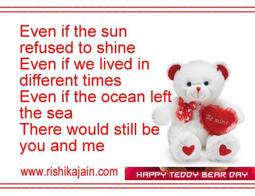 Happy Teddy Day WhatsApp & Facebook Messages , greetings,cards,quotes,songs