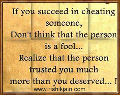 cheating,Trust - Inspirational Quotes, Pictures & Motivational Thoughts