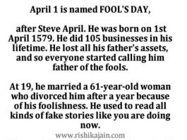 Humor , Humour , April fools day Pictures , Message, Story