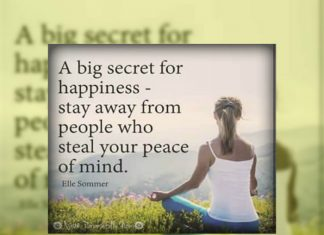 Big secret for happiness, Good Morning wishes, Motivational message