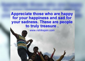 Appreciate people who care, What is true Happiness, Message to inspire