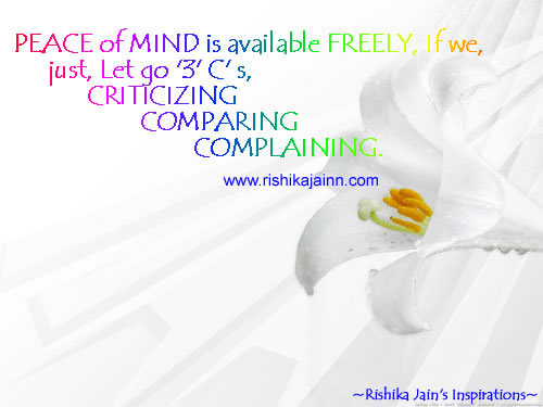 Excellent Quote ...PEACE Of MIND Is Available FREELY