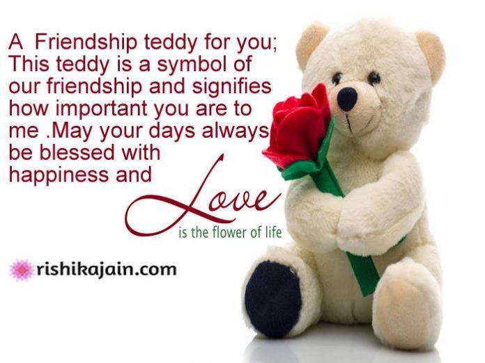 A Friendship Teddy For You;...Happy Teddy Bear Day