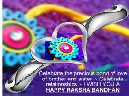 Beautiful Rakhi,Raksha Bandhan Messages