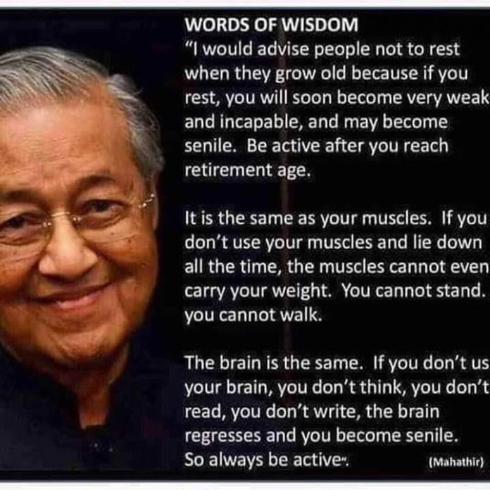 Mahathir Mohamad is PM of Malaysia ,Inspirational Quotes, Pictures and Motivational Thoughts.