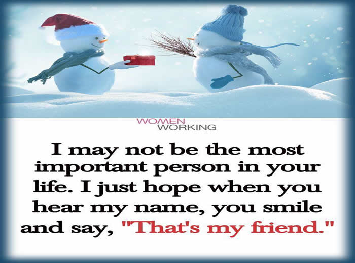 Friendship/New Year Wishes/ Christmas / Love – Inspirational Picture and Motivational Quote