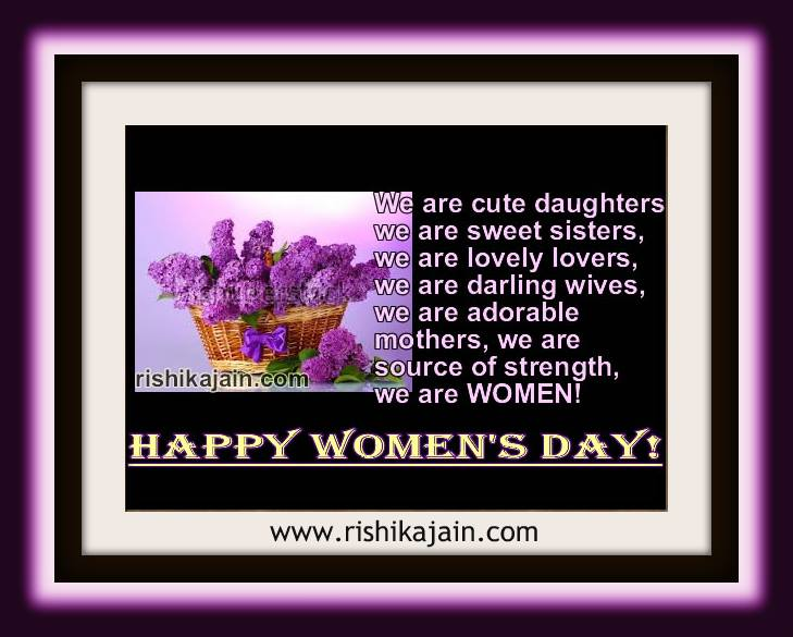 Women's Day Quotes,Images,....A woman is an epitome of beauty,