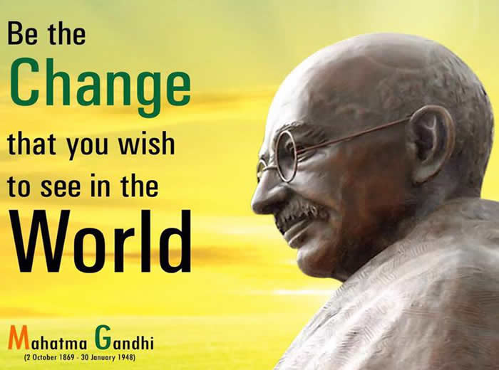 Mahatma Gandhi Inspirational Quotes, Pictures and Motivational Thoughts.