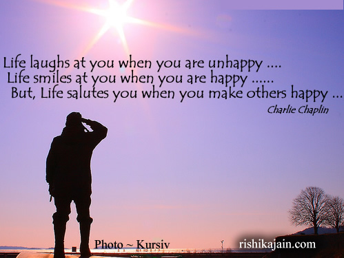 Charlie Chaplin ,Happiness, Inspirational Quotes, Motivational Thoughts and Pictures