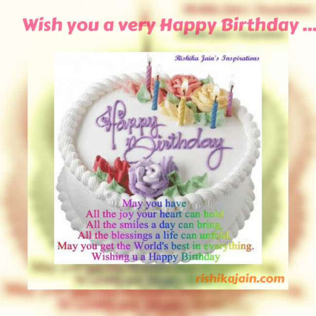 Birthday wishes, Birthday messages , Birthday quotes, Inspirational Pictures