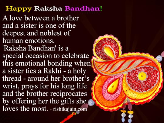 Raksha Bandhan Quotes In English To Brother