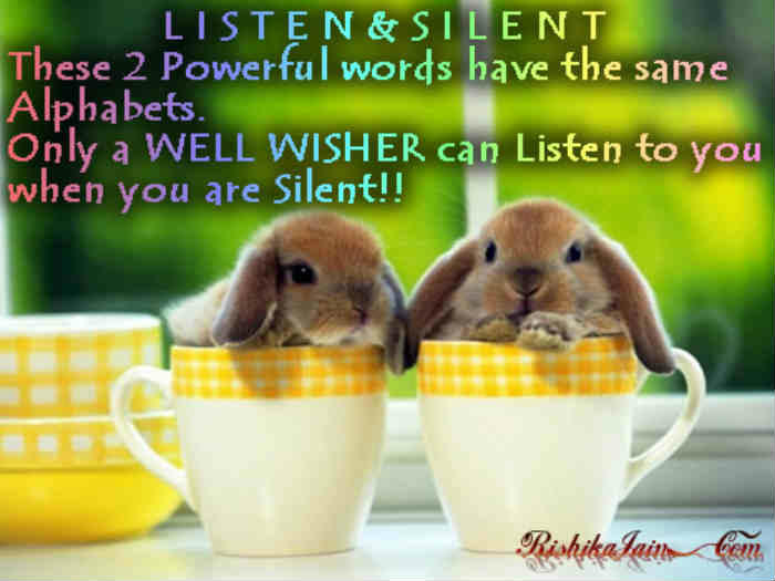 Listen and Silent Quotes, Good Morning wishes, Good Morning Quotes