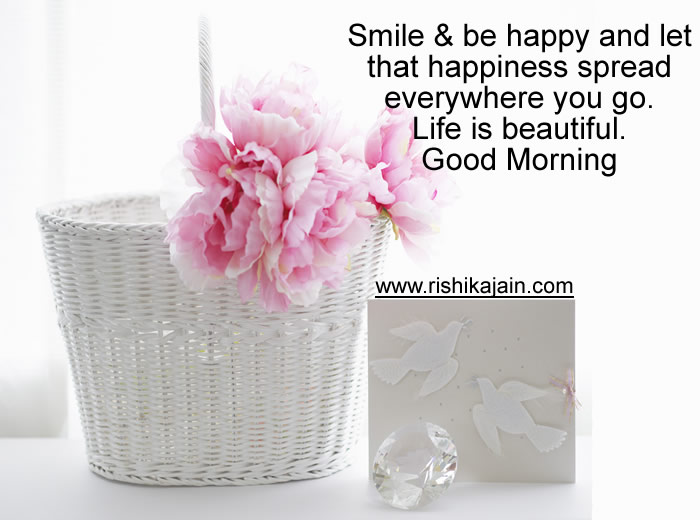 whatsapp good morning,smile,happiness, status,messages,quotes,