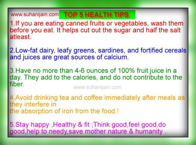 Very useful 5 health tips