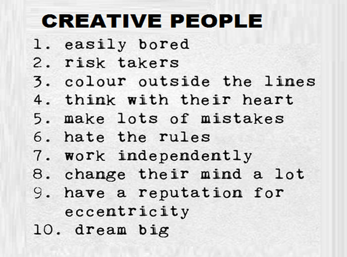 Creative People,Inspirational Quotes, Pictures and Motivational Thoughts.