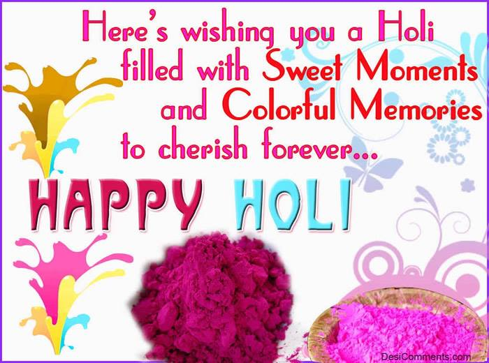 Holi greeting cards,Quotes,Images
