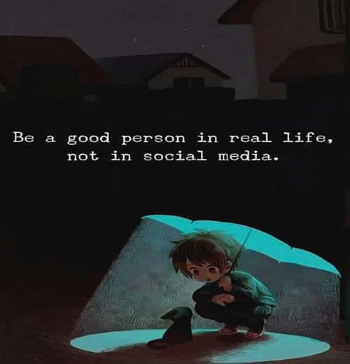 Thought For The Day Be A Good Person In Real Life Inspirational Quotes Pictures Motivational Thoughts Reaching Out Touching Hearts