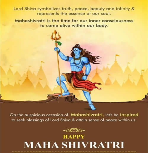 Happy MahaShivaratri, Inspirational Quotes, Motivational Thoughts and Pictures.